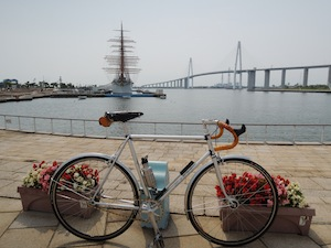帆船海王丸、新湊大橋、そしてS.S.バイク