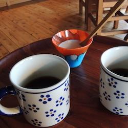食後のコーヒーでグラスホッパー