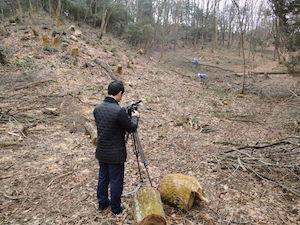 チューリップTVのカメラマンを逆撮影する。