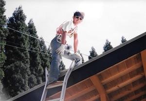 初めての煙突掃除(2001年)