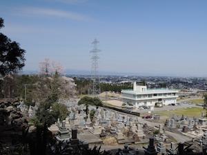 綽如上人墓かの眺望