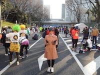 東京マラソン2016スタート地点ゲート前