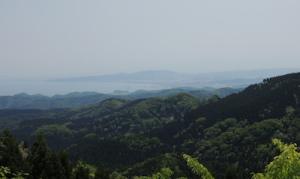 石動山への上り途中