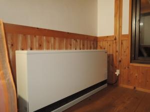 補助暖房としての蓄熱式暖房器