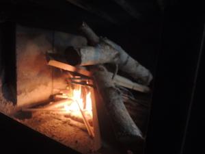 割り箸に火が移りました