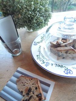 サロンドエスタミネの黒イチジクのケーキ