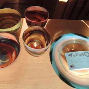 織部調のガラス食器