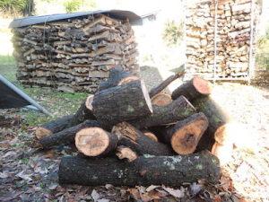 かがり火用の薪が我が家に