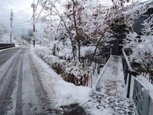 雪かき完了