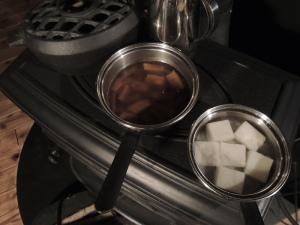 お雑煮 on the stove