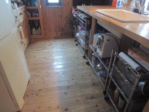 キッチンシンク下の清掃終了
