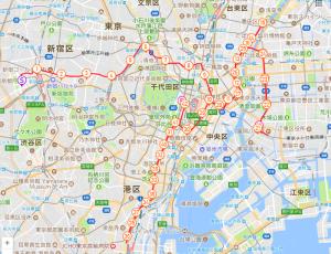 東京マラソン2018コースマップ