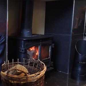 ホテルの暖炉