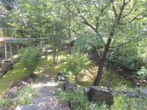打ち水後の前庭
