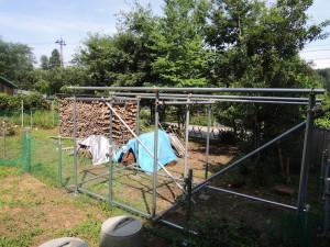 手作り薪置き場